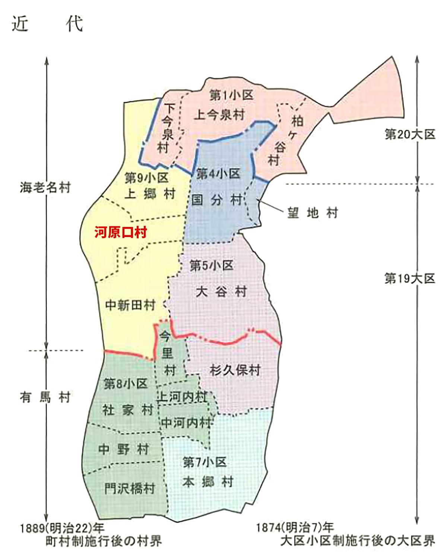 市域旧村の行政界